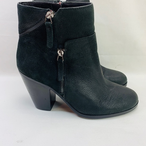 Vince Camuto Womens HINNEGAN Leather Ankle Boots
